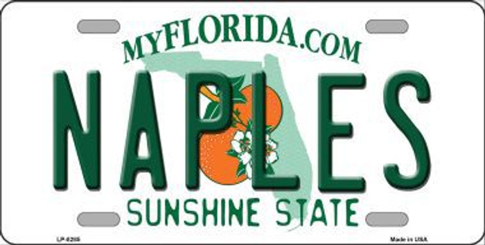 Naples Florida Novelty Metal License Plate
