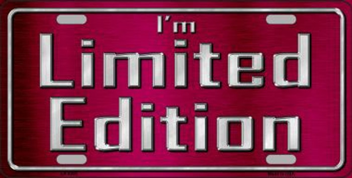 Im Limited Edition Novelty Metal License Plate