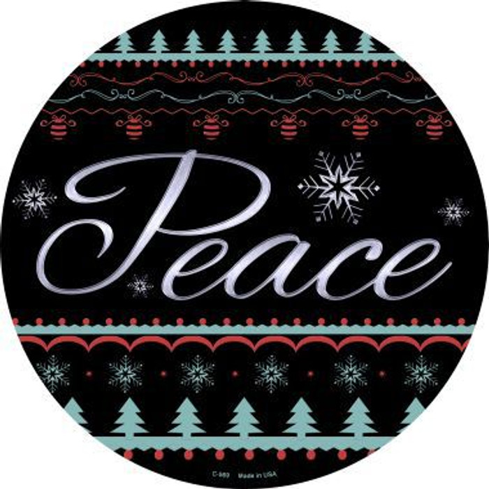 Peace Novelty Metal Circular Sign