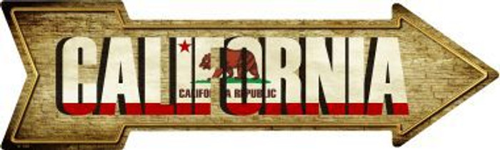 California Novelty Metal Arrow Sign
