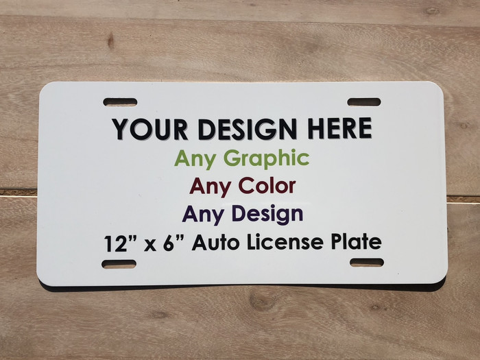 Personalized Make Your Own Custom License Plate Tag and Signs
