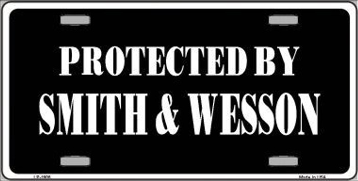 Smith And Wesson Metal Novelty License Plate