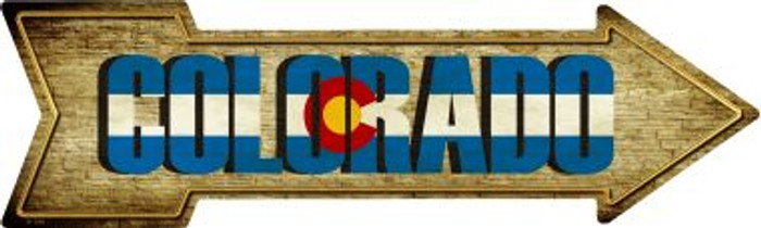 Colorado Novelty Metal Arrow Sign