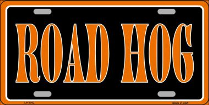 Road Hog Metal Novelty License Plate