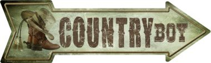 Country Boy Novelty Metal Arrow Sign