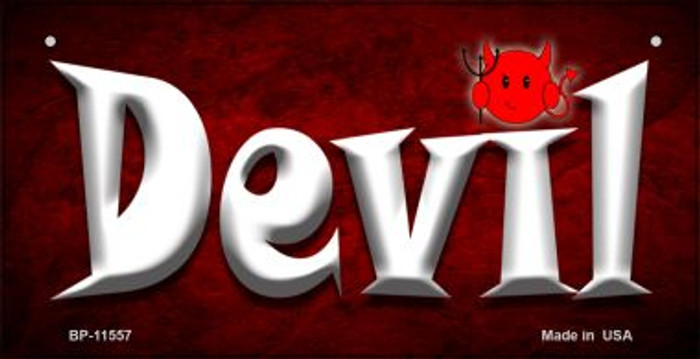 Devil Novelty Metal Bicycle License Plate