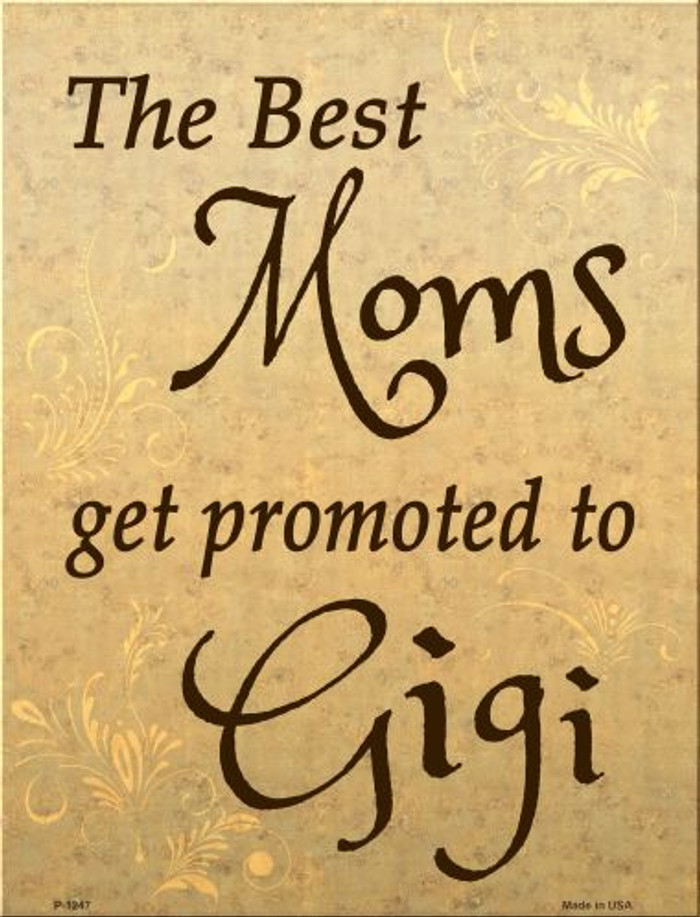 Get Promoted To Gigi Metal Novelty Parking Sign