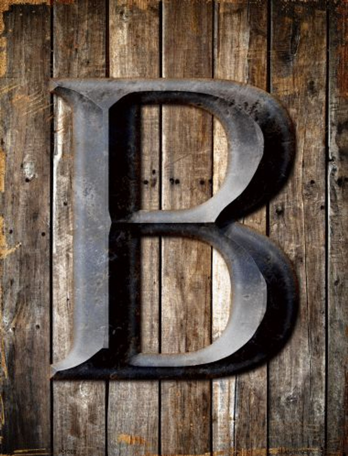 Letter B Metal Novelty Parking Sign