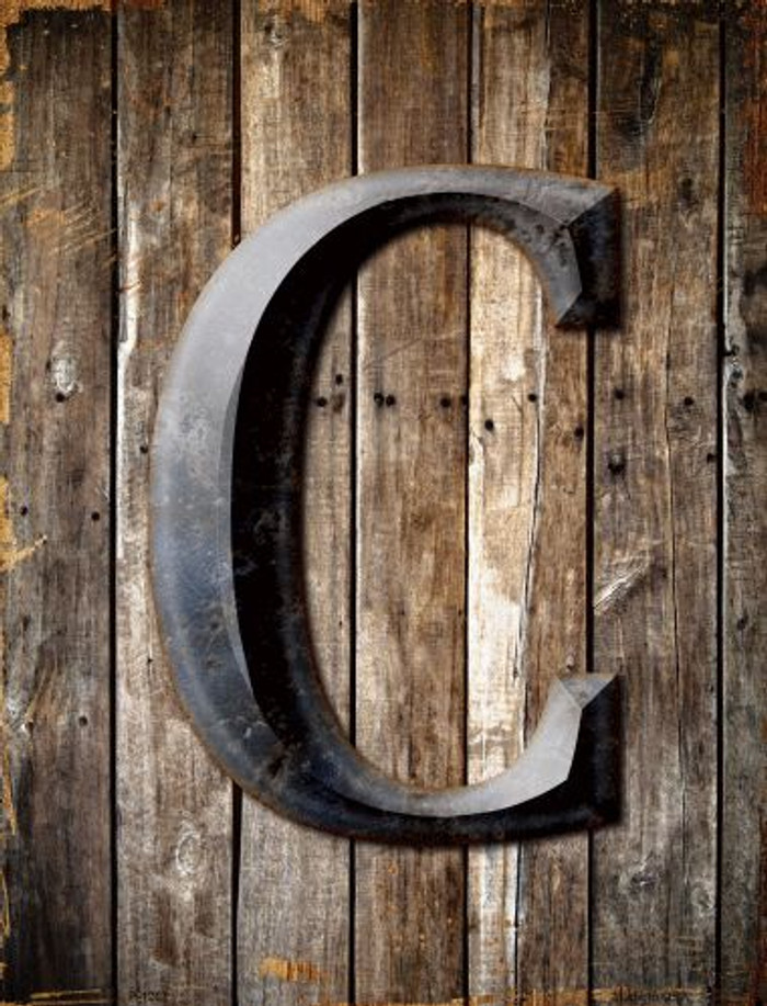 Letter C Metal Novelty Parking Sign