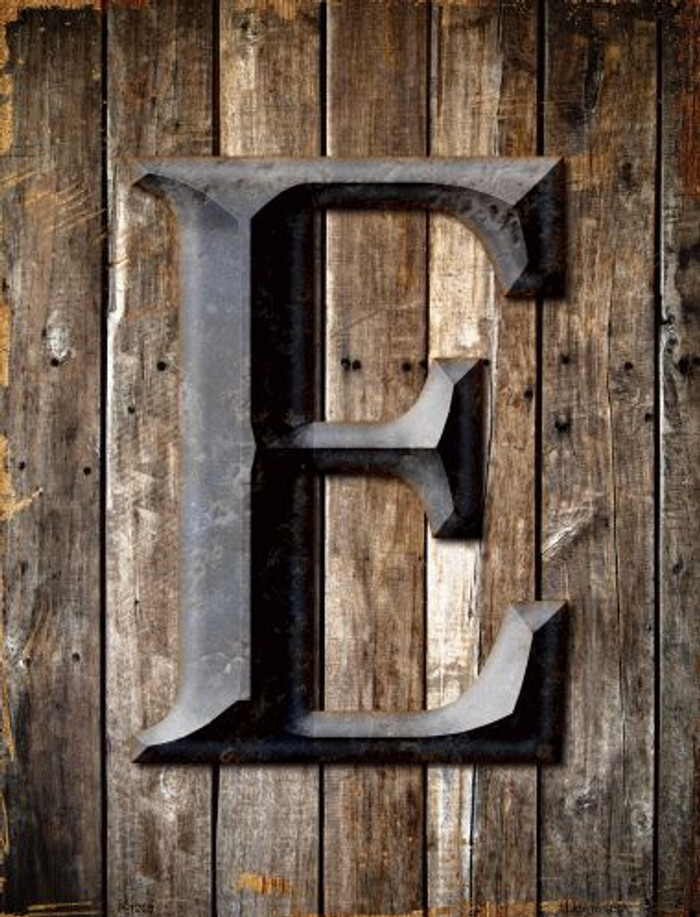 Letter E Metal Novelty Parking Sign