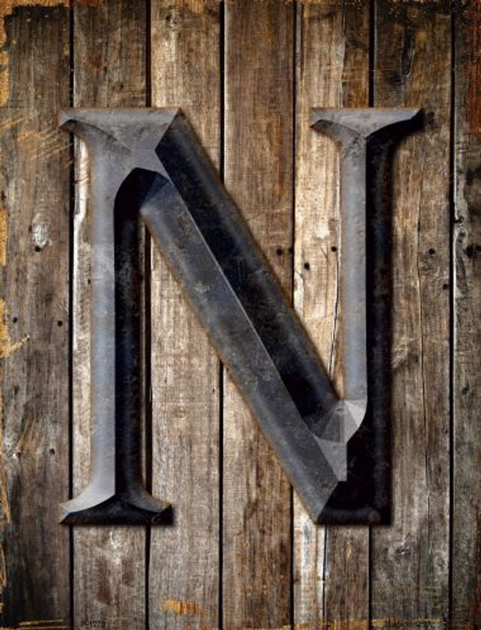 Letter N Metal Novelty Parking Sign