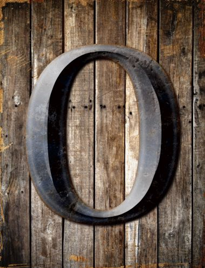 Letter O Metal Novelty Parking Sign