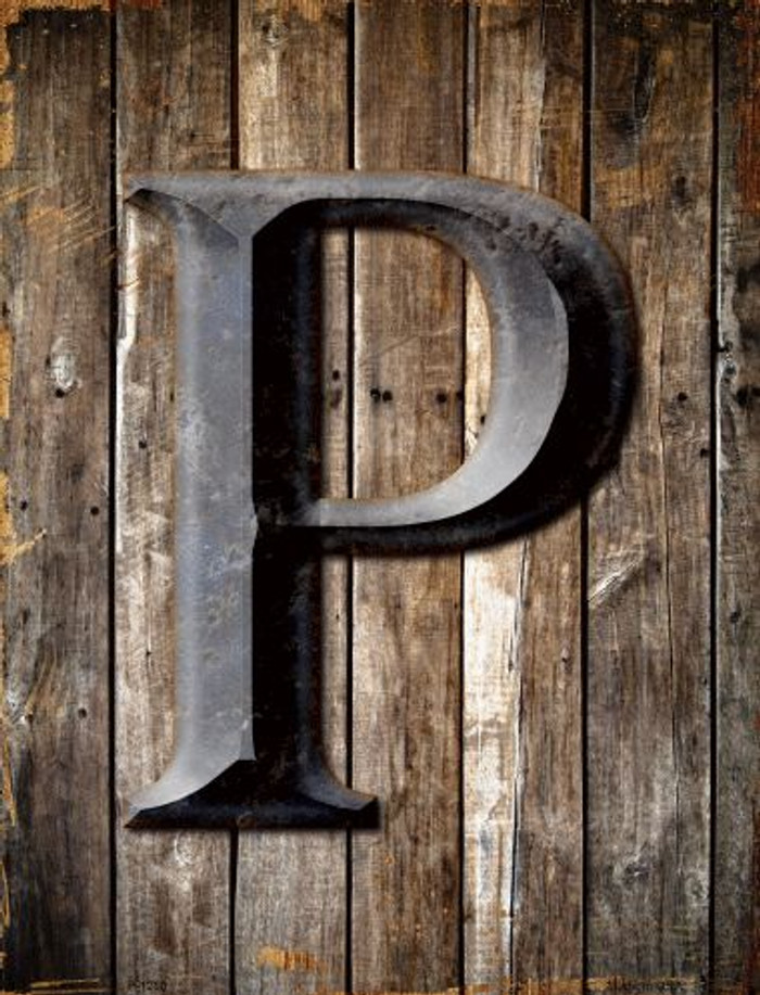 Letter P Metal Novelty Parking Sign