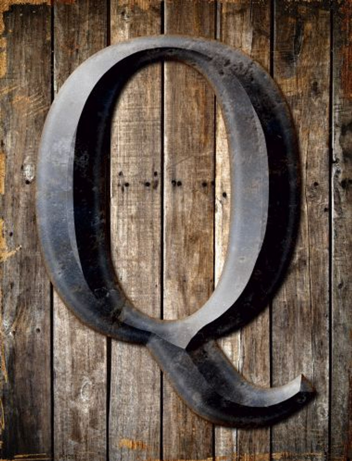 Letter Q Metal Novelty Parking Sign