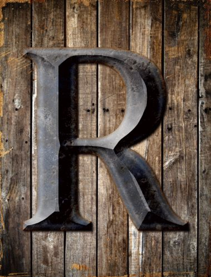 Letter R Metal Novelty Parking Sign