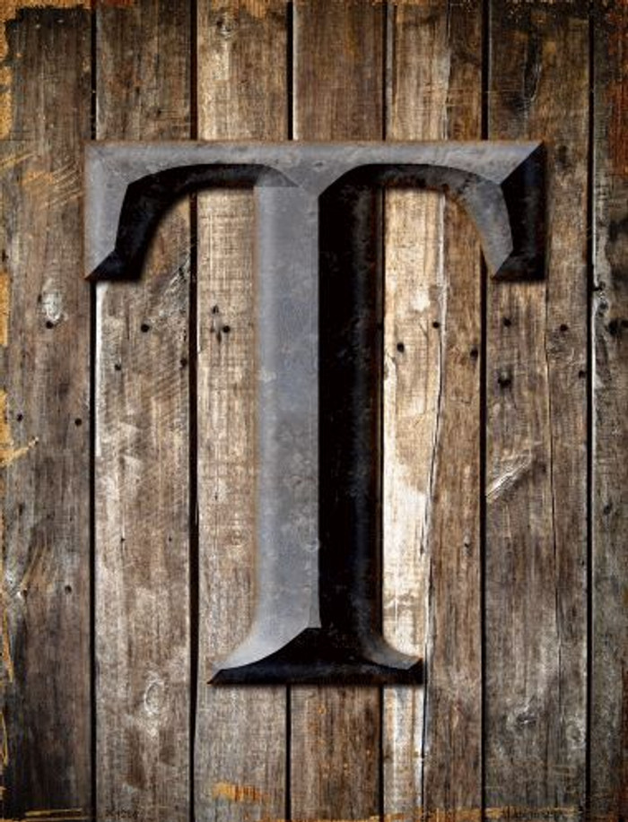 Letter T Metal Novelty Parking Sign