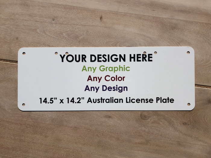 "Personalized Custom Novelty License Plate Tag Tag | 14.5"" x 5.25"" Australian"