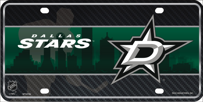 Dallas Stars Metal Novelty License Plate Tag LP-5572