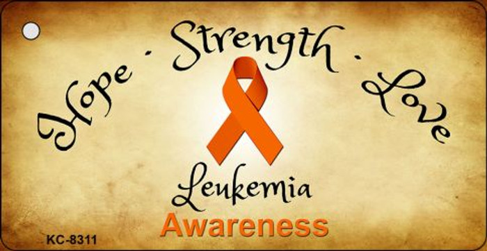 Leukemia Cancer Novelty Metal Key Chain