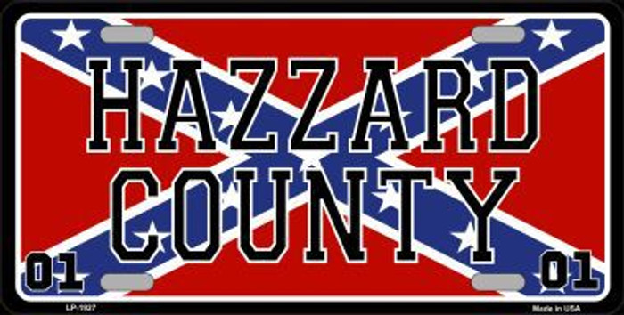 Hazard County Confederate Flag Metal Novelty License Plate
