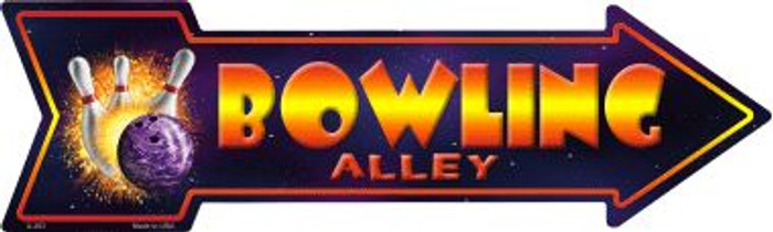 Bowling Alley Novelty Metal Arrow Sign