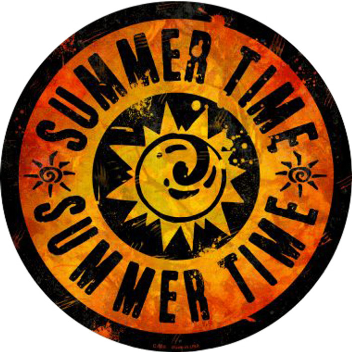 Summer Time Novelty Metal Circular Sign C-589