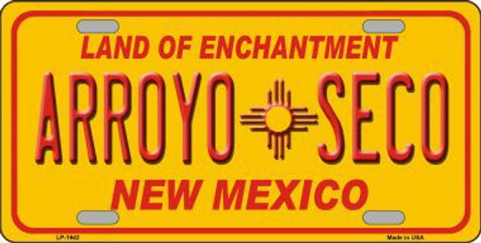 Arroyo Seco Yellow New Mexico Novelty Metal License Plate