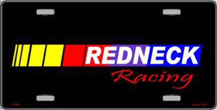 Redneck Racing Metal Novelty License Plate