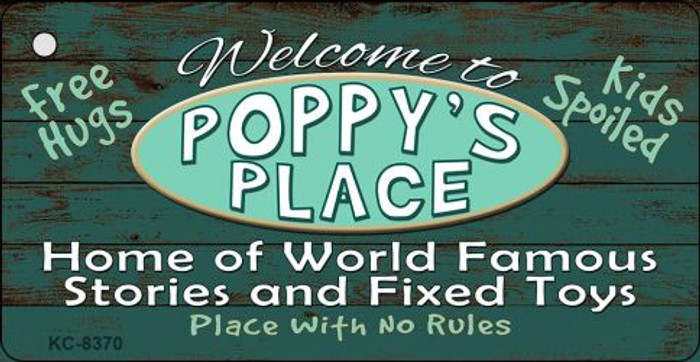 Poppys Place Novelty Metal Key Chain