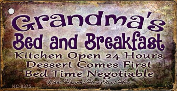 Grandmas Bed & Breakfast Novelty Metal Key Chain