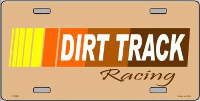 Dirt Track Racing Metal Novelty License Plate