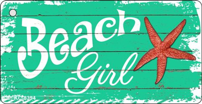 Beach Girl Novelty Metal Key Chain