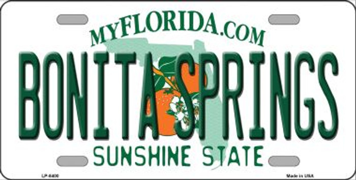 Bonita Springs Florida Novelty Metal License Plate