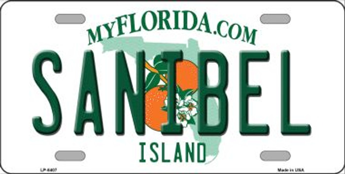 Sanibel Florida Novelty Metal License Plate