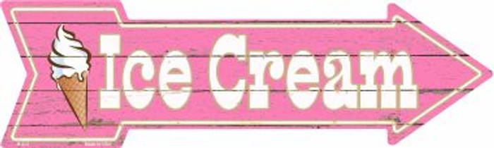 Ice Cream Novelty Metal Arrow Sign