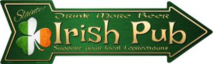 Irish Pub Novelty Metal Arrow Sign