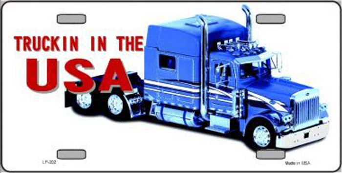 Trucking In The USA Metal Novelty License Plate