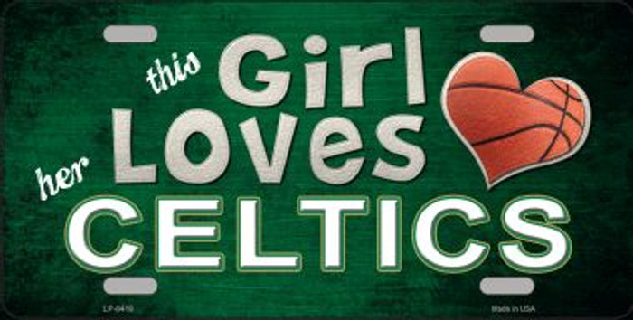 This Girl Loves Her Celtics Novelty Metal License Plate