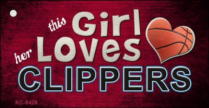 This Girl Loves Her Clippers Novelty Metal Key Chain