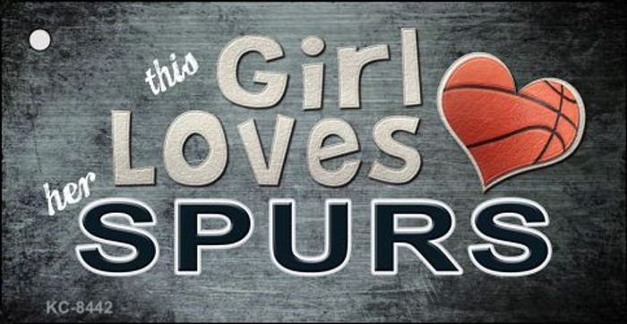 This Girl Loves Her Spurs Novelty Metal Key Chain