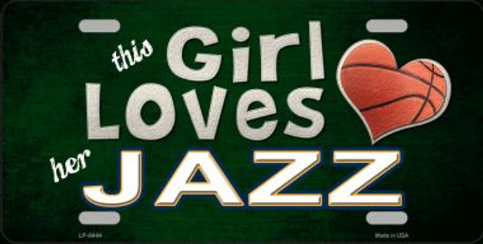 This Girl Loves Her Jazz Novelty Metal License Plate