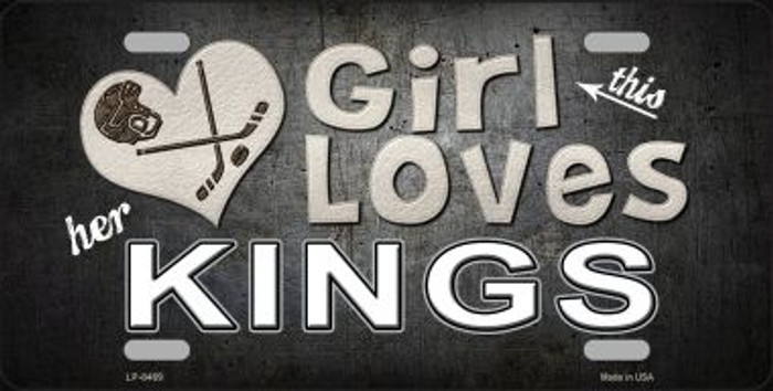 This Girl Loves Her Kings Novelty Metal License Plate