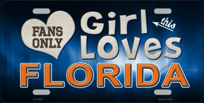 This Girl Loves Florida Novelty Metal License Plate