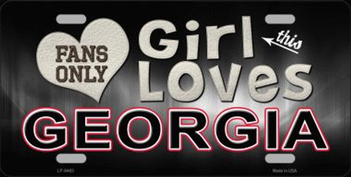 This Girl Loves Georgia Novelty Metal License Plate