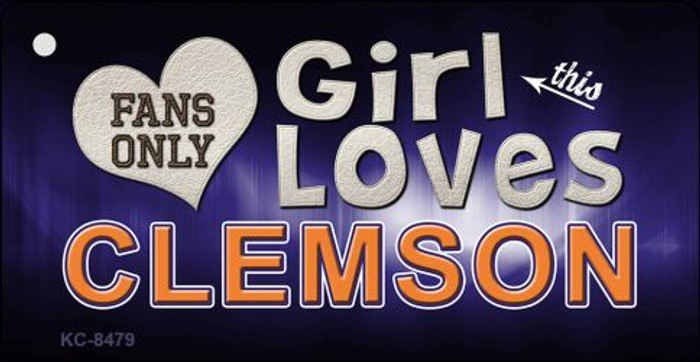 This Girl Loves Clemson Novelty Metal Key Chain