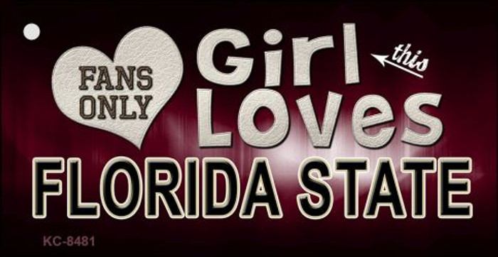 This Girl Loves Florida State Novelty Metal Key Chain