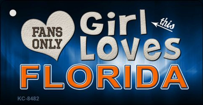 This Girl Loves Florida Novelty Metal Key Chain