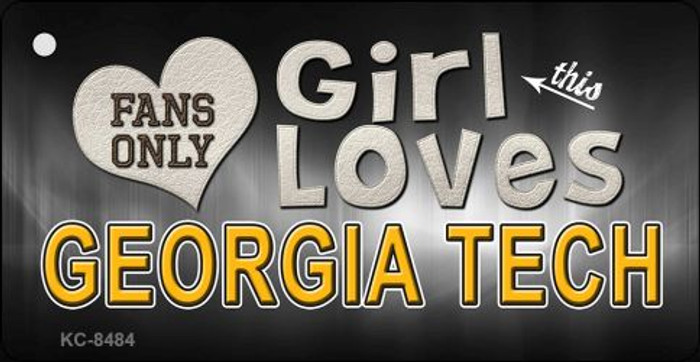 This Girl Loves Georgia Tech Novelty Metal Key Chain