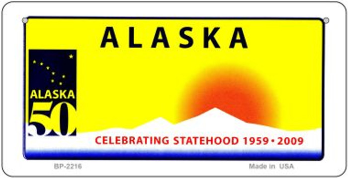 Alaska State Background Novelty Bicycle Plate