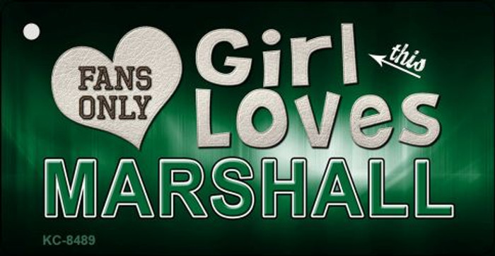 This Girl Loves Marshall Novelty Metal Key Chain